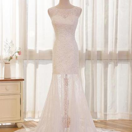 Long Wedding Dress, Lace Wedding Dr..