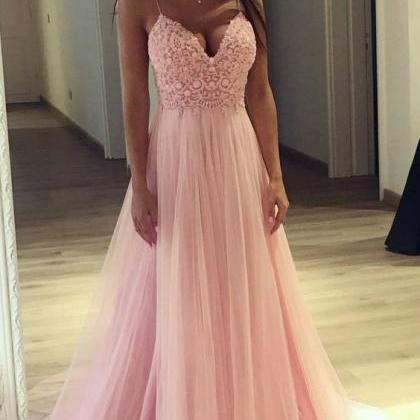 Prom Dress with Thin Straps, Back T..