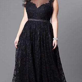 plus size V-neck Formal Tulle Long ..