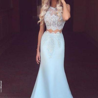 Fancy Mermaid dress Two Pieces dres..