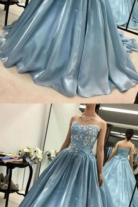 A-Line Sweetheart Long Prom/Evening Dress