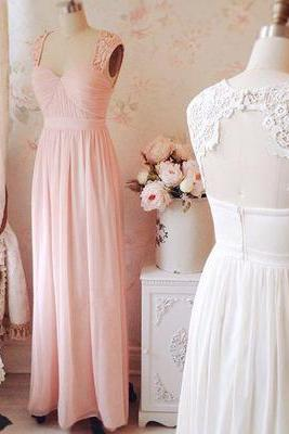 Formal Dress,Sexy Charming Long Pink Chiffon Prom Dress,Cap Sleeve Evening Gown,Backless Prom Gown,Prom Dresses,Formal Wedding Ball Gowns Custom Party Dresses,Wedding Guest Prom Gowns, Formal Occasion Dresses,Formal Dress