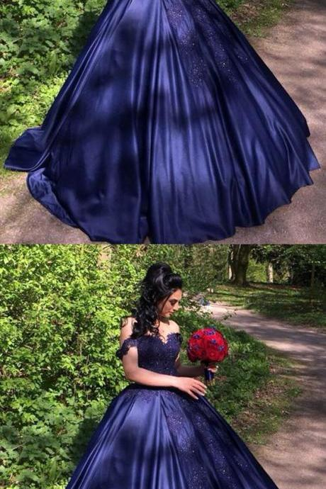 Navy blue quinceanera dresses,Ball gowns quinceanera dresses,Elegant quinceanera dress,Navy blue wedding dress,,Formal Women Dress ,New Fashion,Party Gown,Evening Dress
