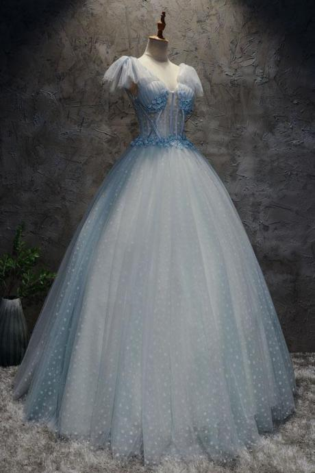 Light-blue-tulle-long-prom-dress-blue-tulle-evening-dress,Formal Women Dress ,New Fashion,Party Gown,Evening Dress