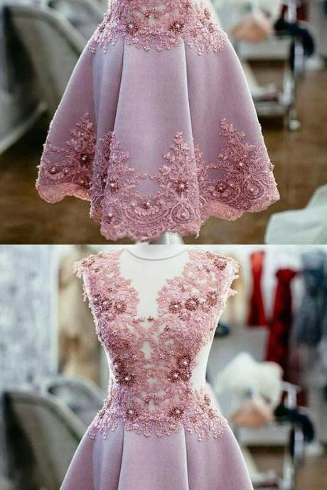 Charming Beaded Homecoming Dresses,Lace Evening Dress,Prom Gown,Short Appliques Mini Homecoming Dresses,Custom Made,Party Gown,Cheap Evening dress