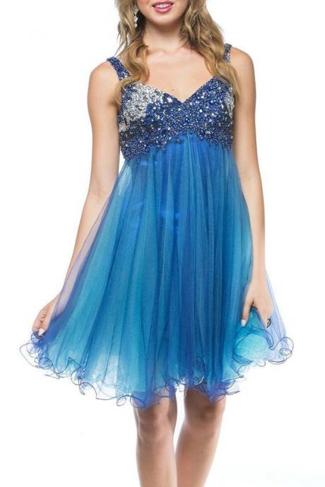 Beading Prom Dress,Short Sexy Party Dress,Homecoming Dress,Evening Dress,Custom Made,Party Gown,Cheap Evening dress