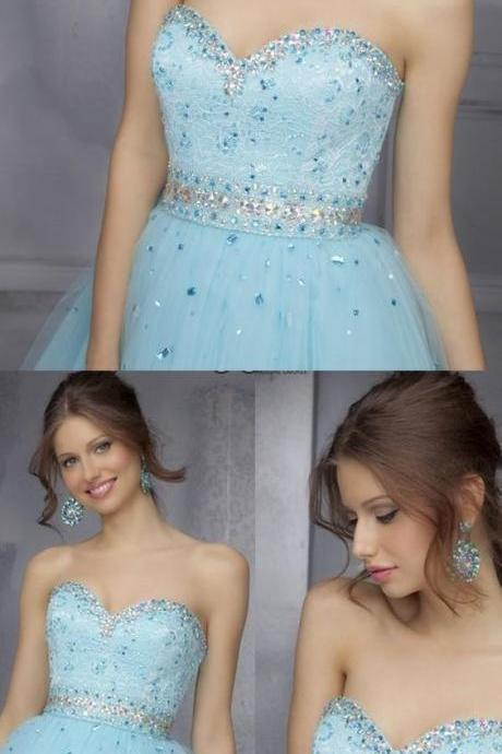 Short Light Blue Prom Homecoming Dresses With Lace Backless Mini Enticing Prom ,Custom Made,Party Gown,Cheap Evening dress