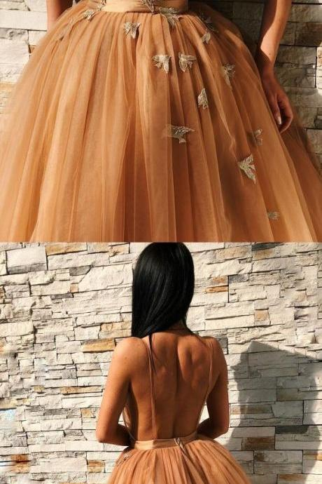 elegant v-neck homecoming dresses with appliques, backless short prom gowns