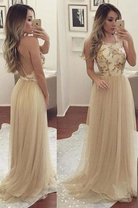 Customized Enticing Prom Dresses Long, Prom Dresses A-Line, Open Back Prom Dresses