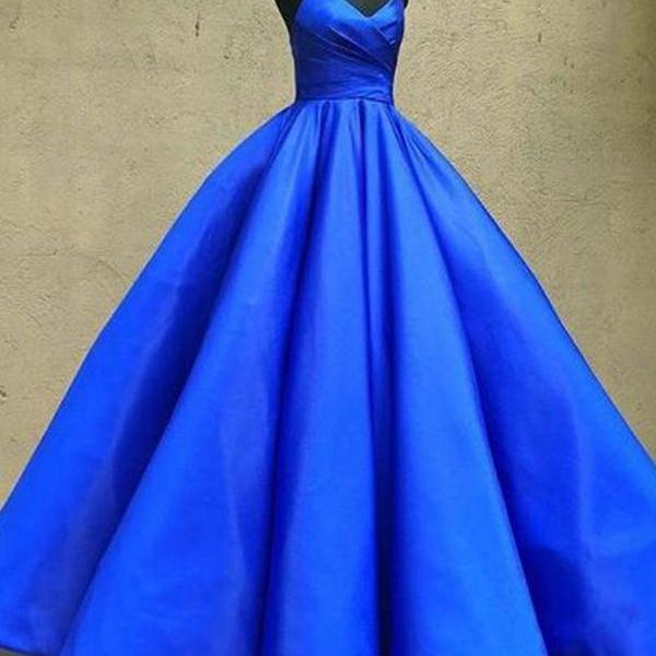 Ball Gown Prom Dresses Spaghetti Straps Floor-length Sexy Long Prom Dress ,Custom Made,Party Gown,Cheap Prom dress