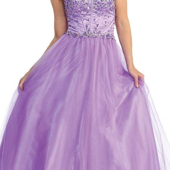Sweetheart Tulle Long Ball Gown,Custom Made,Party Gown,Cheap Prom dress